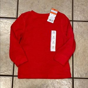 Cat & Jack NWT Boys Red Flannel Long Sleeve 2T